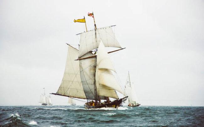 Pride of Baltimore in open sea